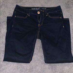 American eagle dark wash capri jeans